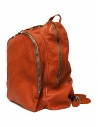 Guidi DBP06 orange leather backpack shop online bags
