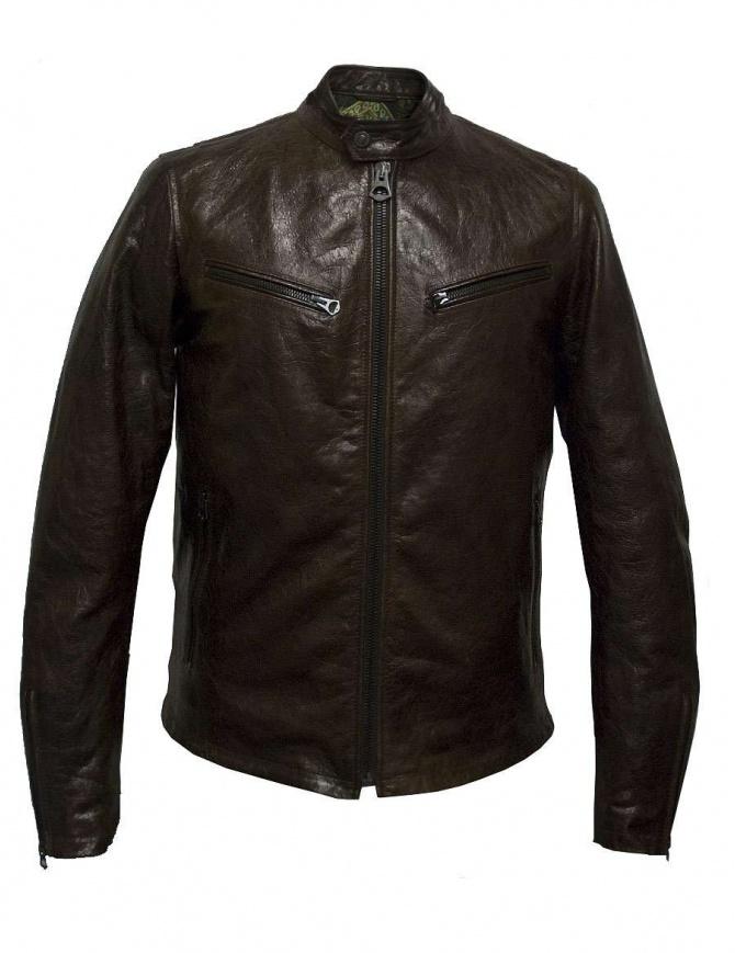 Giacca in pelle Rude Riders colore marrone P94505-24128 giubbini uomo online shopping