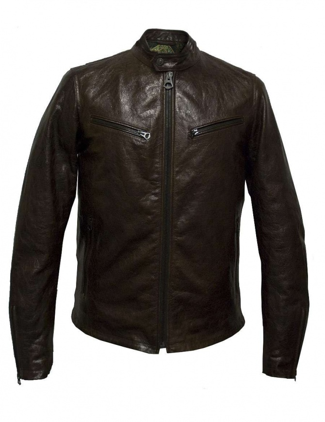 Rude Riders brown leather jacket P94505-24128 mens jackets online shopping