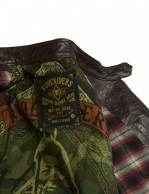 Rude Riders brown leather jacket price