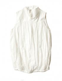 Camicie donna online: Camicia smanicata Kapital colore bianco
