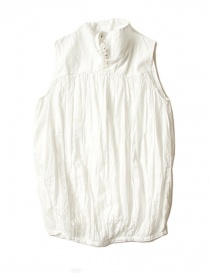 Womens shirts online: Kapital sleeveless white shirt