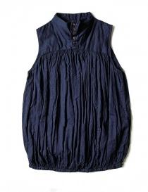 Camicie donna online: Camicia smanicata Kapital colore blu