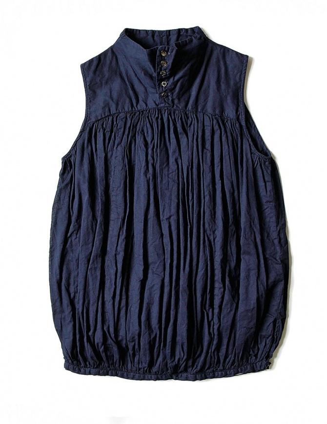 Camicia smanicata Kapital colore blu K1704SS187-SHIRT-NAVY camicie donna online shopping