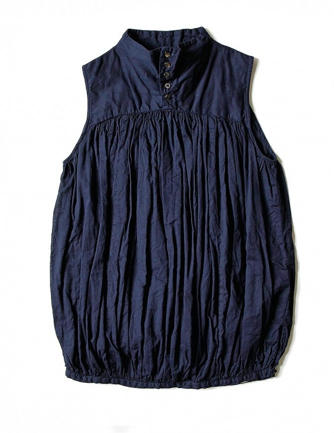 Kapital sleeveless blue shirt K1704SS187-SHIRT-NAVY womens shirts online shopping