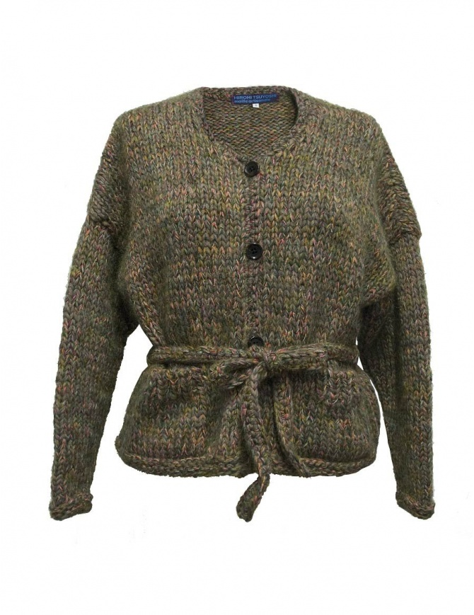 Cardigan in lana Hiromi Tsuyoshi colore verde RW17-012 D-ASSORTED maglieria donna online shopping