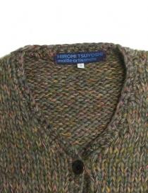 Cardigan in lana Hiromi Tsuyoshi colore verde prezzo