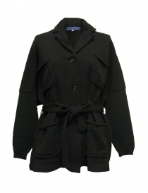 Womens suit jackets online: Hiromi Tsuyoshi black oversize jacket