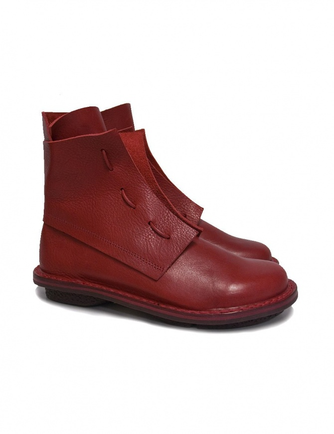 Trippen Solid red ankle boots SOLID-RED womens shoes online shopping