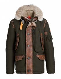 Giacca piumino Parajumpers Forrest colore cespuglio PMJCKNW03-FORREST-M601 order online