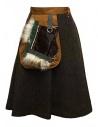 Kolor brown skirt buy online 17WPL-S01106-A-KHAKI