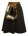 Kolor brown skirt buy online 17WPL-S01106 A-KHAKI-BROWN