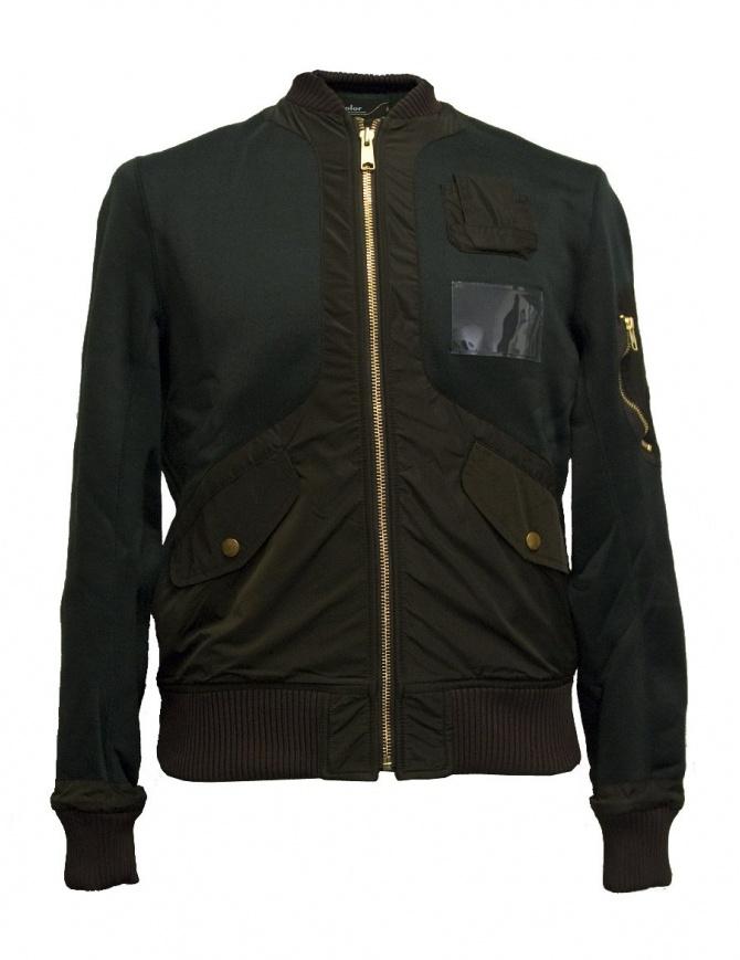 Giacca bomber Kolor verde 17WCM-G17202 A-VIRIDIAN giubbini uomo online shopping