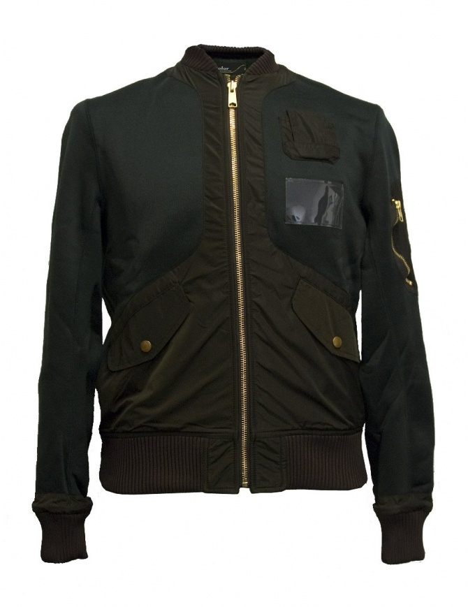 Kolor green bomber jacket 17WCM-G17202-A-VIRIDIAN mens jackets online shopping