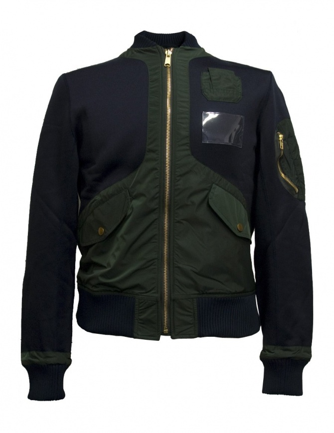 Kolor blue bomber jacket 17WCM-G17202-4-NAVY mens jackets online shopping