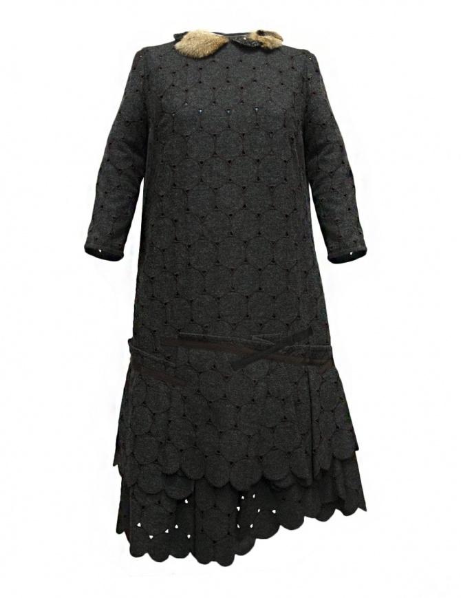 Abito Kolor in lana grigio traforato 17WCL-O02145 GRAY abiti donna online shopping