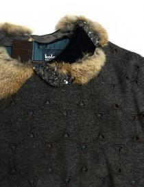 Abito Kolor in lana grigio traforato abiti donna acquista online