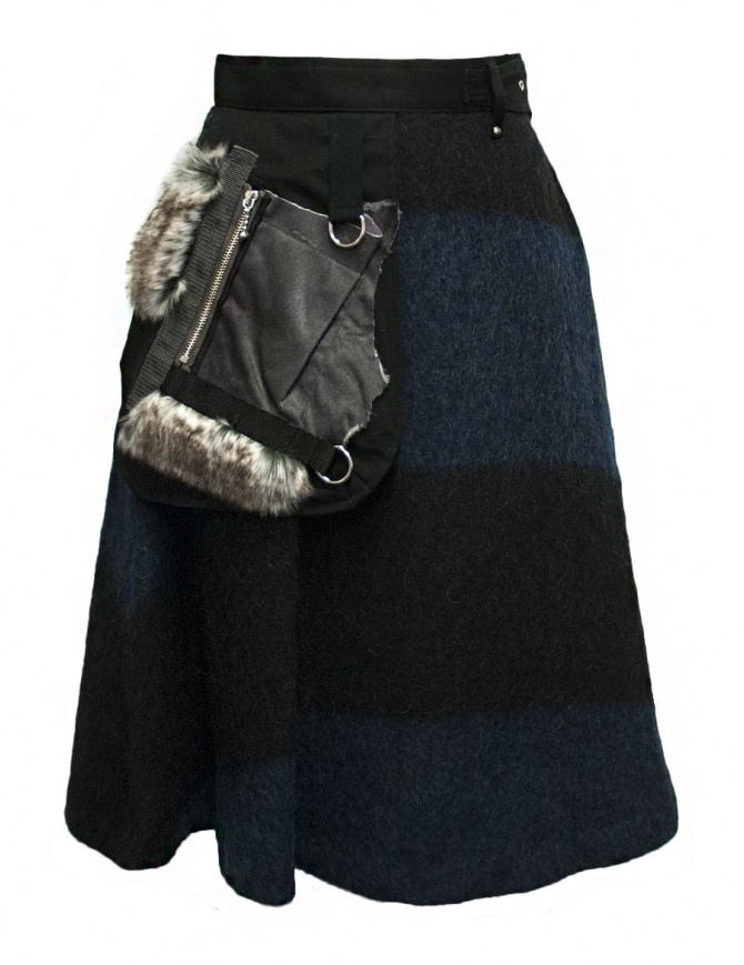 Kolor blue black skirt 17WPL-S01106 B-BLUE-BLK womens skirts online shopping