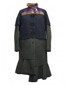 Cappotto Kolor colore grigio 17WCL-C05143 GRAY