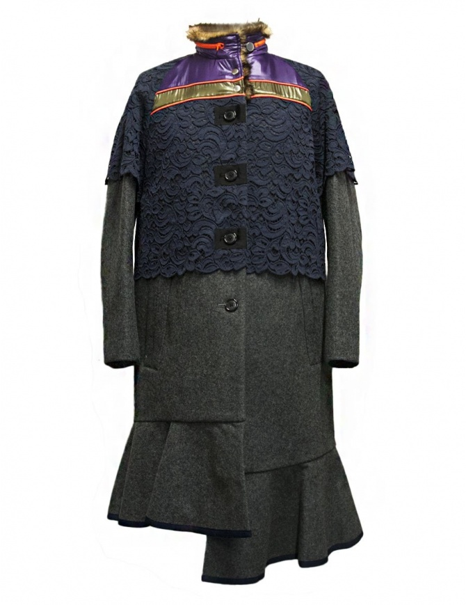 Cappotto Kolor colore grigio 17WCL-C05143-GRAY cappotti donna online shopping