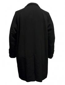Cappotto Kolor colore nero tasca marrone