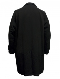 Kolor black coat with brown pocket