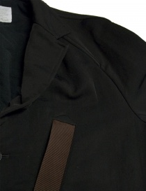 Kolor black coat with brown pocket price