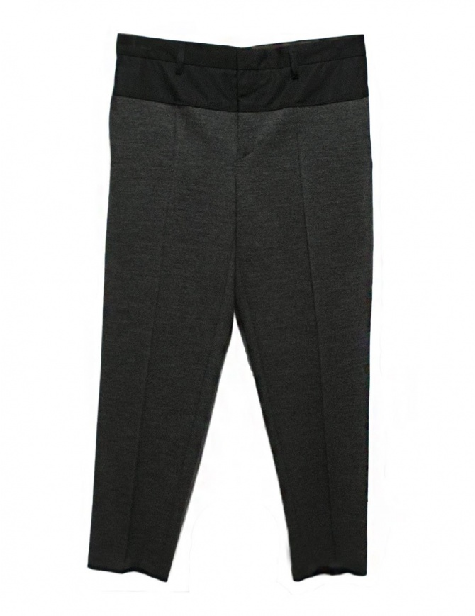 Kolor middle grey pants 17WCM-P10201-A-MIDDL mens trousers online shopping