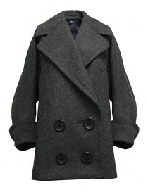 Womens coats online: Kolor grey oversized coat