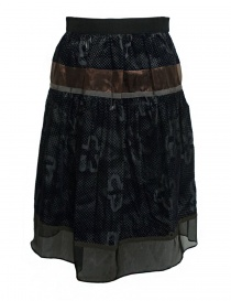 Kolor blue grey skirt 17WPL-S05135 B-BLUE-GRAY