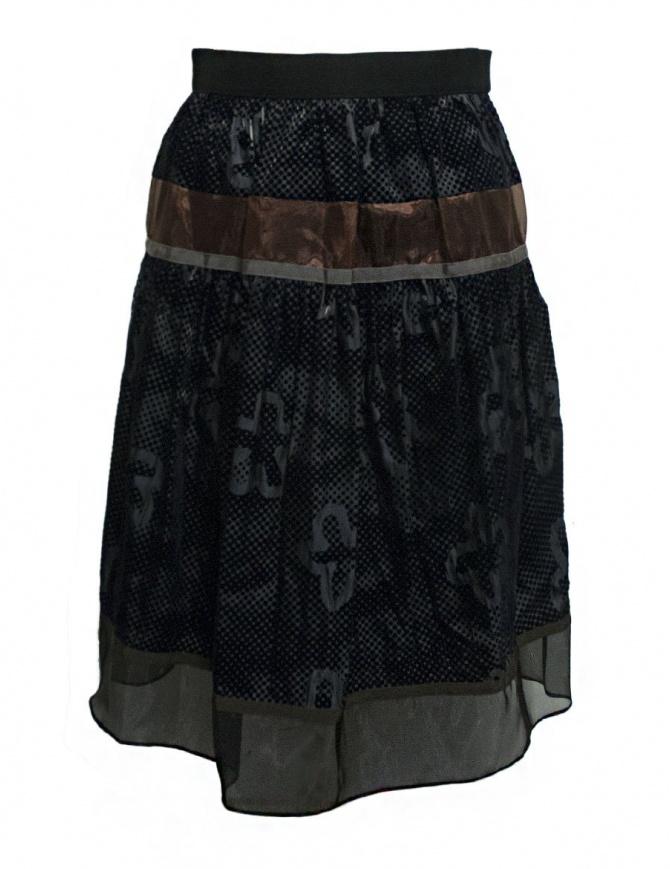 Kolor blue grey skirt 17WPL-S05135 B-BLUE-GRAY womens skirts online shopping