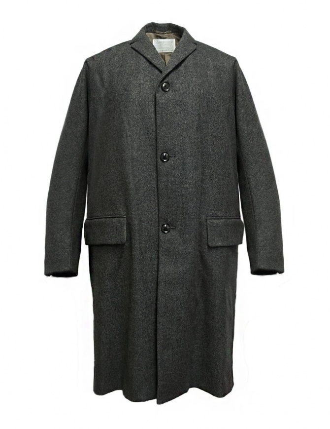Kolor melange grey coat 17WCM-C01101-B-MELAN mens coats online shopping
