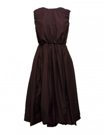 Abito Sara Lanzi in lana e seta prugna 01F.CSW.05 DRESS PLUM