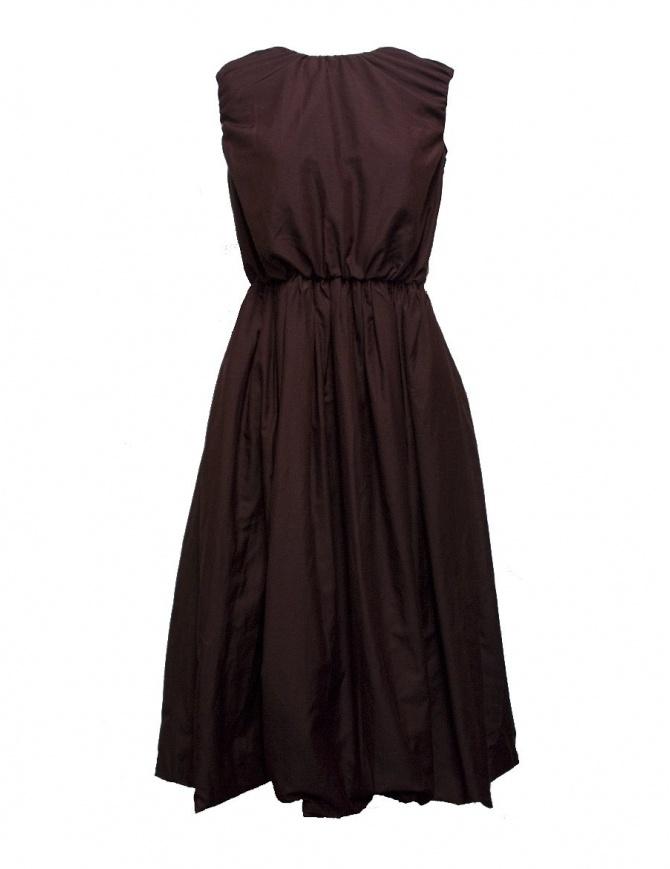 Sara Lanzi plum wool and silk dress 01F.CSW.05 DRESS PLUM womens dresses online shopping