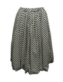 Womens skirts online: Sara Lanzi black and white pois skirt