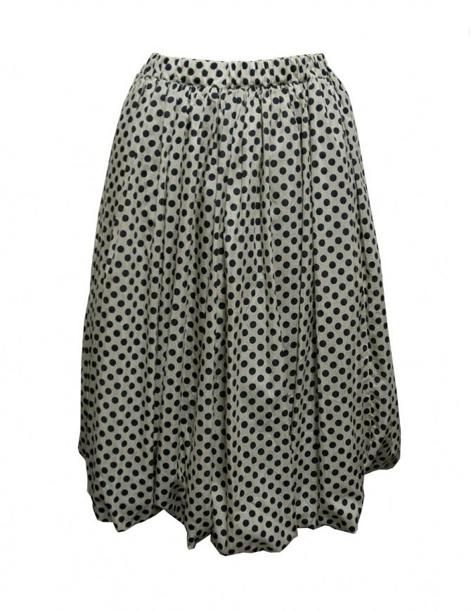 Sara Lanzi black and white pois skirt 03F.CSW.19 SKIRT POIS womens skirts online shopping
