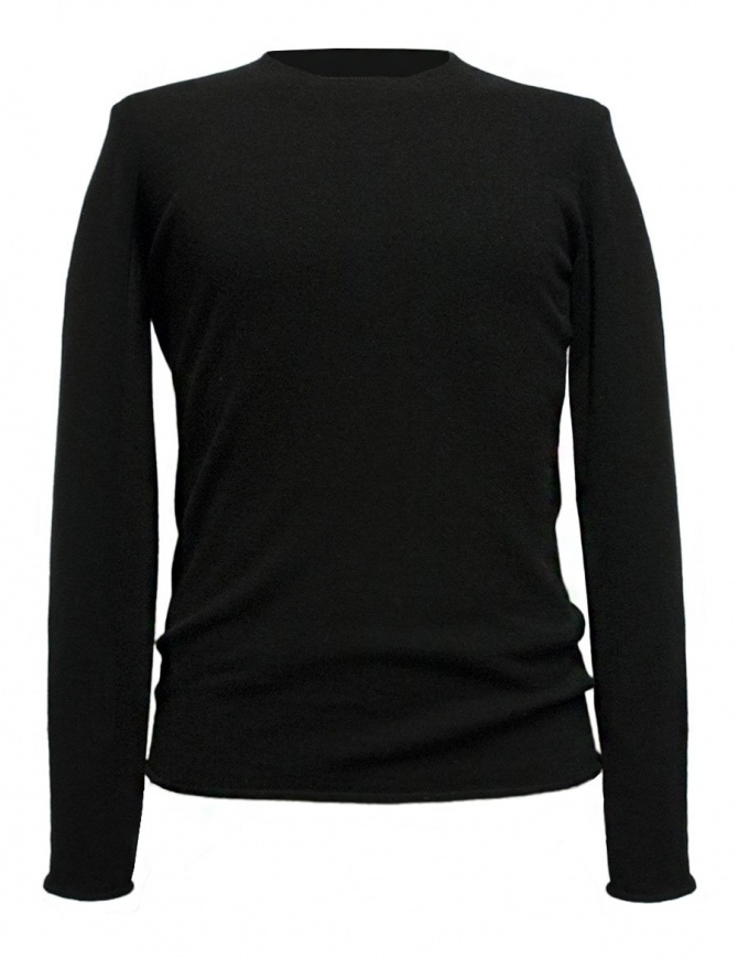 Label Under Construction Punched black sweater 30YMSW154 WA11 30/BK SWEAT mens knitwear online shopping