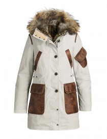 Cappotto parka Parajumpers Nicole colore gesso PWJCKNW33-NICOLE-W770 order online