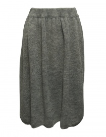 Gonna Sara Lanzi in lana grigia 03J-WNW-07-SKIRT-GREY order online