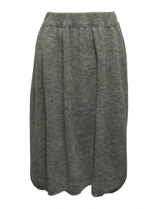 Sara Lanzi gray wool skirt 03J.WNW.07 SKIRT GREY womens skirts online shopping
