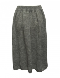 Sara Lanzi gray wool skirt buy online