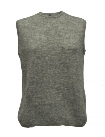 Womens knitwear online: Sara Lanzi gray wool sweater