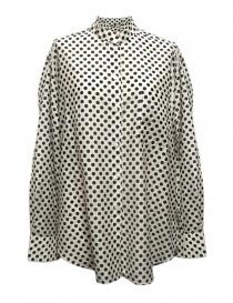 Camicia Sara Lanzi a pois bianco nero online