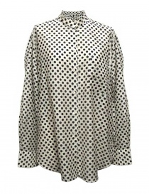 Womens shirts online: Sara Lanzi black and white dotted shirt