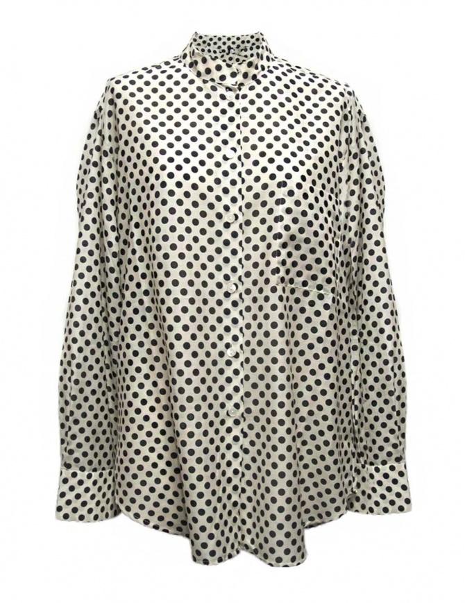 Camicia Sara Lanzi a pois bianco nero 06F-CSW-19-SHIRT-POIS camicie donna online shopping
