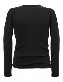 Mens knitwear online: Label Under Construction Punched dark grey sweater