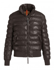 Giacca bomber Parajumpers Lucy in pelle colore marrone PWJCKLE33-LUCY-LEATHER order online