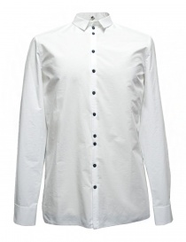 Label Under Construction Invisible Buttonholes white shirt 30FMSH37 CO184 30/2 SHIRT order online