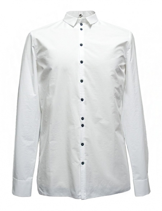 Label Under Construction Invisible Buttonholes white shirt 30FMSH37-CO184-30-2 mens shirts online shopping