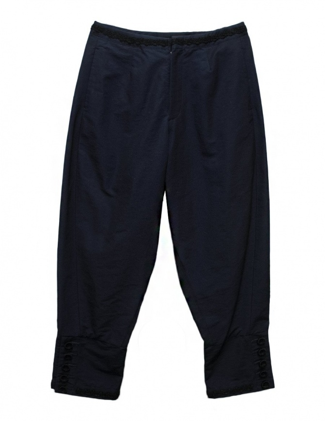 Pantalone Miyao colore blu navy MN-P-01 PANTS NAVY BLACK pantaloni donna online shopping